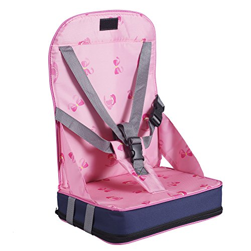 Baby Sitzerhöhungen Boostersitze hohe Stühle Sessel Schnelle Veröffentlichung (Rosa)