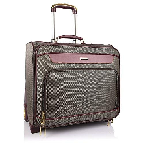 Suntop Wanderlust Faux Leather Brown Suitcase & Trolley Bag