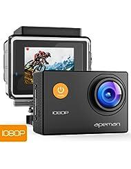 Apeman A66 - Cámara de acción 1080p HD, 12MP, impermeable, Cam 170Ultra gran angular lente con kit de accesorios de montaje para ciclismo, escalada buceo
