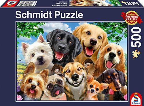 Schmidt Spiele Puzzle 58390 Hunde-Selfie, 500 Teile Puzzle, bunt
