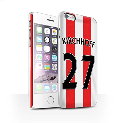 Offiziell Sunderland AFC Hülle / Glanz Snap-On Case für Apple iPhone 6S / Kirchhoff Muster / SAFC Trikot Home 15/16 Kollektion Kirchhoff