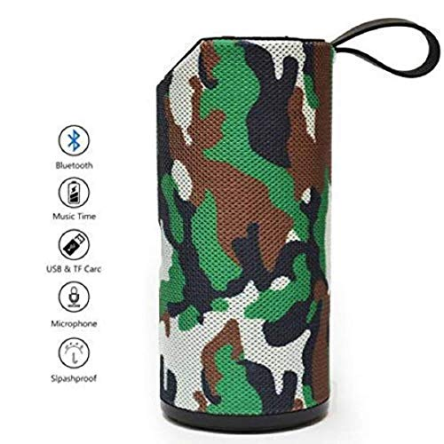 Teconica TG-113 Super Bass Splash-Proof Bluetooth Speaker with Inbuilt Mic, USB, TF Card and AUX Slot Easily Connect with All Bluetooth Enabled Devices - Assorted Colour