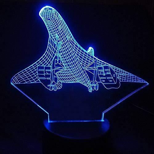 DFDLNL 7 Colores 3D ilusión visión avión avión