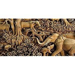 LIJIANG Cuadro de la Lona Impresión de la Imagen para la Decoración de la Pared para la Sala de Estar Enrollado – Tailandia Elefante Pinturas Animales Pared Impresións – 120X60 cm