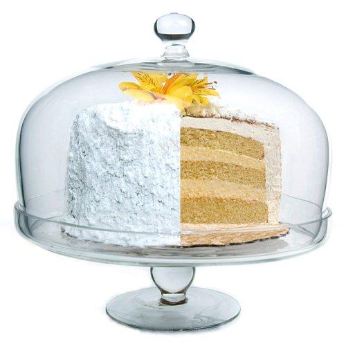 Simplicity Plat à gâteaux sur pied et cloche ronde