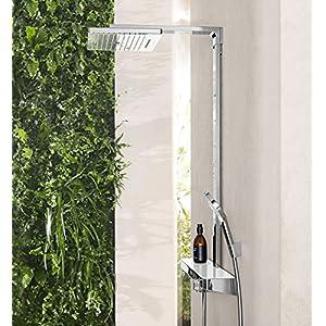 Hansgrohe 27168400 Rainmaker Select 420 columna de ducha, 4 tipos de chorro, blanco/cromo