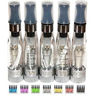 AVAX 5x CE5+ CLEAROMIZER 1.6 ml / 2.4 Ohm - austauschbare Köpfe - für die elektronische Zigarette EGO-T/EGO-C/EGO-W / 510/Ego Gewinde - FARBE clear/klarer