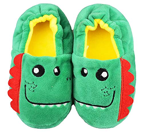 Tirzrro Girls/Kids Rainbow Unicorn Slippers with Warm Plush Fleece House Slip-on Shoes