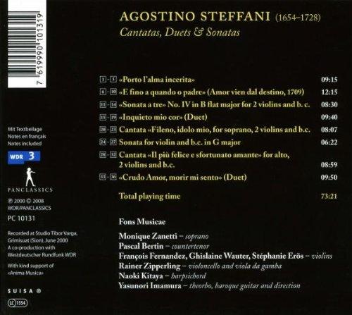 Steffani : Cantates, Duos & Sonates (CD Catalogue)