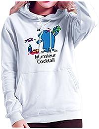 Mr Men Monsieur Cocktail Women's Hooded Sweatshirt