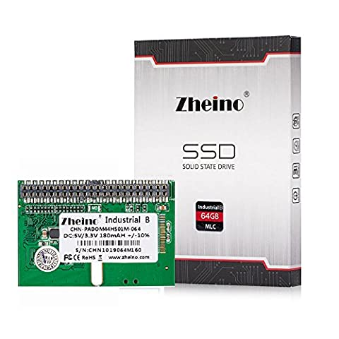 Zheino Industrie B Disk on Module PATA IDE 44pin DOM 64GB MLC Horizontal Sockel For Mini-PC (Thin (2gb Ide Flash-modul)