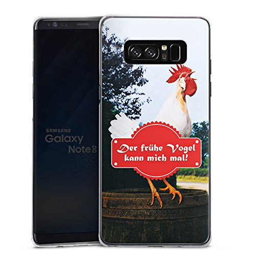 DeinDesign Samsung Galaxy Note 8 Duos Hülle Case Handyhülle Fruehe Vogel Hahn Landleben -