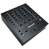 Numark M6 USB - 4-Kanal-DJ Mischpult mit integriertem Audio-Interface, 3-Band-Equalizer, für die Disco ausgelegten Eingängen, Mikrofon-Eingänge, austauschbarem Crossfader und Slope-Regler
