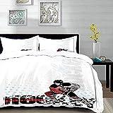 Yaoni Bedding Juego de Funda de Edredón - Hockey, diseño artístico de un...