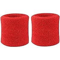 geshiglobal Schweißbänder aus Baumwolle, für Handgelenke, Sport, Tennis, 2Stück