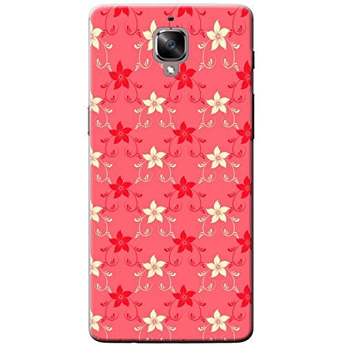 Zarte Sternblumen Rot & Creme Hartschalenhülle Telefonhülle zum Aufstecken für OnePlus 3T -