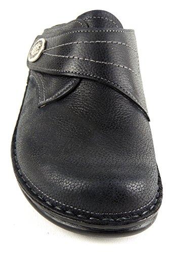 """FINN cOMFORT femme clog pantolette """"82580 weichbettung s bERMUDA-noir Noir - Noir"""