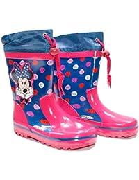 e0ba5f7719 Scarpe Stivali Stivaletti Bambina Bimba da Pioggia Minnie Disney Fucsia Blu