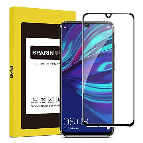 SPARIN Panzerglas für Huawei Honor 10 lite/Huawei P Smart 2019 3D Volle Deckung, Schutzfolie mit [9H Härte] [Anti-Kratzen] [Blasenfrei] [HD Klar] (Schwarz)