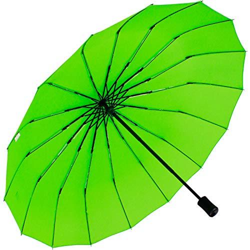iX-brella Taschenschirm 16-teilig mit Handöffner - grün