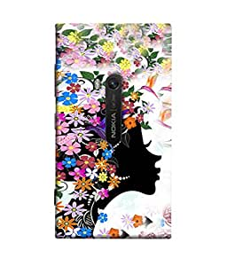 PrintVisa Designer Back Case Cover for Nokia Lumia 920 :: Micosoft Lumia 920 (Fragrance Flowers Garden Leaves Butterfly )
