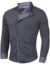 Élégant Premium hommes occasionnels mince chemises habillées belle Slim Fit Shirt t-shirt top collection
