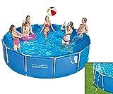 Summer Waves Frame Pool 366x91cm Rahmen Swimming Pool + Leiter Familien Schwimmbad mit Filterpumpe