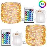 Minger 5m Lichterketten mit RF Fernbedienung Batteriebetriebene Twinkle Lichter für Schlafzimmer Party Dekoration Hochzeit 2 Stück