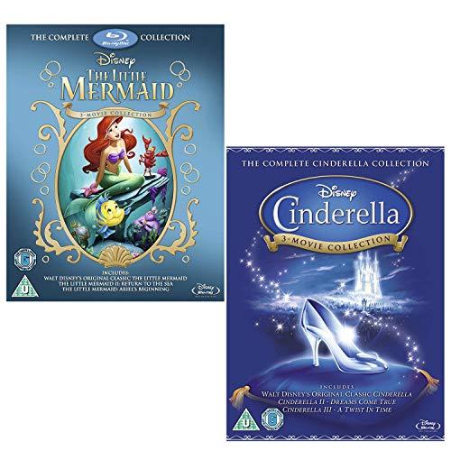 Little Mermaid Complete Collection - Cinderella Complete Collection - Walt Disney 2 Movie Bundling Blu-ray