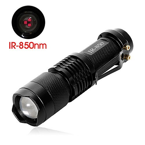IR Torch 3 Watt 850NM Infrared Light Night Vision Flashlight Torch - Infrared Light is Invisible to Human Eyes - To be used with Night Vision Device( NOT INCLUDE BATTERY)