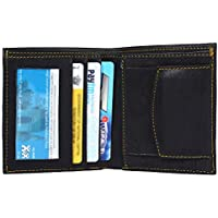 I-Heir Mens Wallet Black Branded in Leather for Credit Cards Visiting Cards & Coins