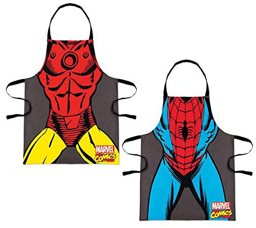 Tablier de cuisine Avengers : Iron Man, Spiderman (Iron Man)