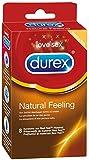 Durex Natural Feeling Kondome, natürliches Haut an Haut Gefühl, latexfrei, 8er Pack (1 x 8 Stück)