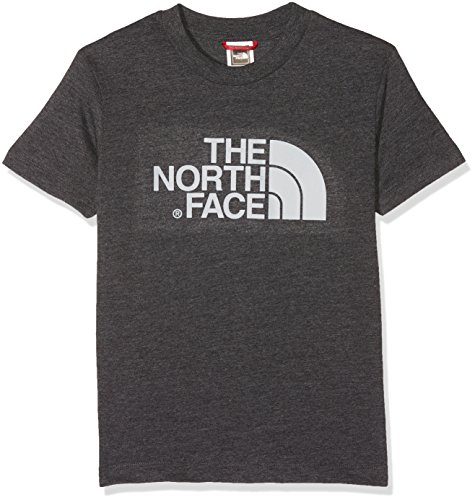 THE NORTH FACE Kinder Jugendliche Easy T-Shirt TNF Dark Heather/High Rise Grey, XS -