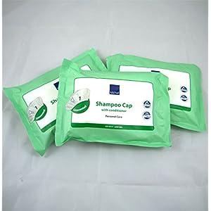 Abena Shampoo-Haube, ohne Duft, mit Conditioner, für wasserloses Haarewaschen, 3 Stück