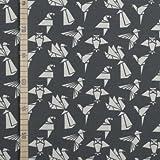 StoffHandwerker Origami Tiere - Grau - Jersey