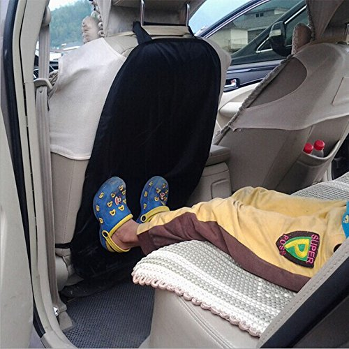 Car child seat anti kick pad Car Auto Care Seat Back Protector Cover For Children Kick Mat Mud Clean 66cmx43.5cm (Schwarz)