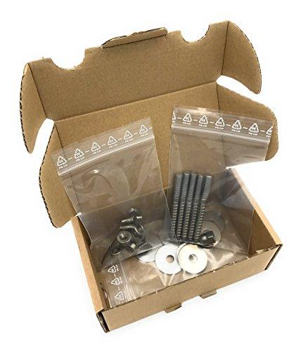 Vitezza 5er Set Stockschrauben mit Scheiben, Hutmutter (Eindrehhilfe) und Flügelmuttern zum Selberbauen von Sitzstangen und Befestigung von Käfigzubehör (Edelstahl)