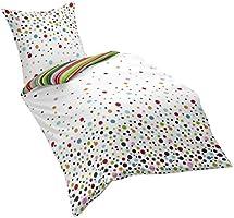 Dream Art Riva 143310 Fb. 9 Parure de lit réversible en coton renforcé avec housse de couette 240 x 220 cm et 2 taies d'oreiller 80 x 80cm Multicolore