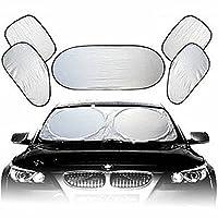 Descrizione Proteggere tua auto dal sole e raggi UV, facile usare con ventose e smontabile per uso ripetuto. Prodotto è fatto di matteriale speciale anti-UV, e c'è una borsa impermeabile in dotazione per il stocaggio. Caratteristica 6 Set di ...