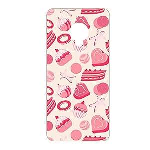 Vibhar printed case back cover for Infocus M2 PinkMuch