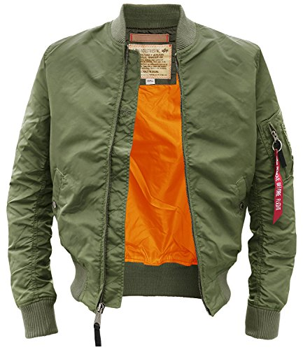 Alpha Industries -  Giacca - Camicia - Basic - Maniche lunghe  - Uomo Verde salvia Large