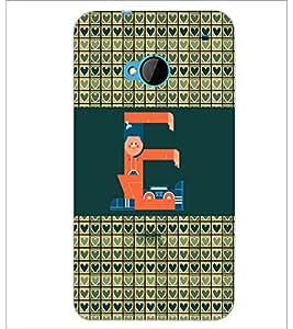 PrintDhaba GRANDbet E D-2593 Back Case Cover for HTC ONE M7 (Multi-Coloured)