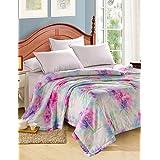Dngy*Tencel colcha de verano simple o doble impresión reactiva fresco en el verano fresco colcha edredón Set , ropa de cama