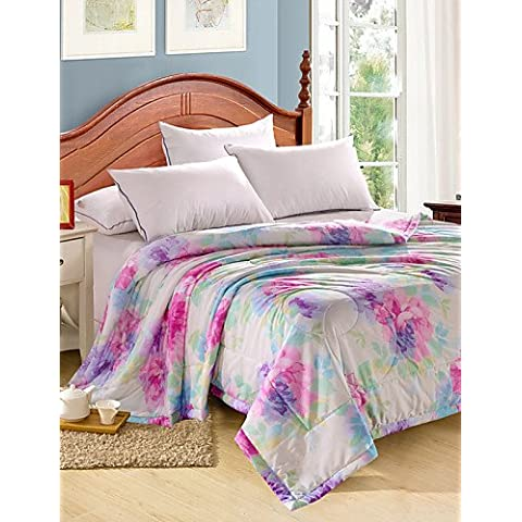 YangR*Tencel Estate trapunta singola o doppia stampa reattivo fresco in estate fresca Quilt Quilt Set biancheria da letto ,