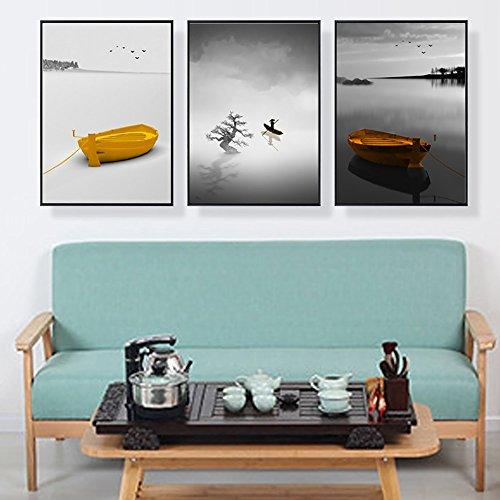 Wand-staffelei Bilderrahmen (Fresko nordische Wohnzimmer dekorative Malerei Sofa Hintergrund Wandmalerei einfache moderne kleine frische Wand Malerei Schlafzimmer Nachttisch Malerei ( Color : Light Wood , Size : 40*60CM-Mood ))