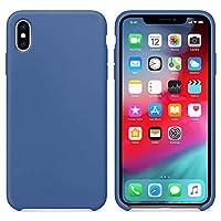 Microsonic 21709 Apple iPhone XS Kılıf Liquid Lansman Silikon Çini Mavisi