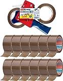 tesa Packband-Abroller mit 14 Rollen tesapack 66m x 50mm