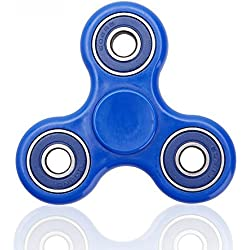 Fidget Toy tipo Spinner para niños o adultos Giggle Hands – gran regalo – Gira 1 minuto – Juego Sensorial Hand Spinner (azul)
