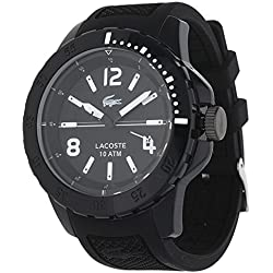 Lacoste 2010717 TR90 Sport Luxury Men's Watch – Analogue Quartz – Black Dial – Black Silicone Strap